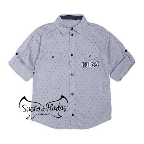 GUESS CAMISA AZUL CON CRUCES