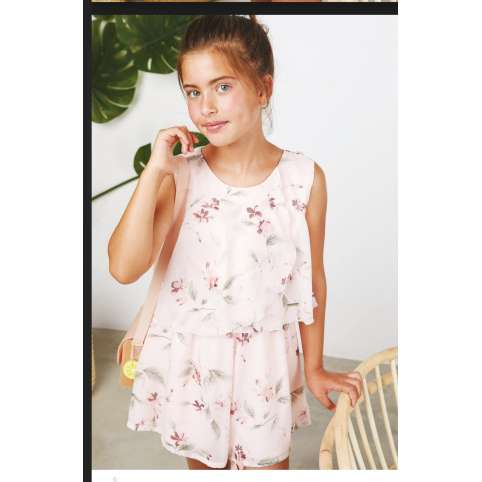 Amaya mono junior tres chic rosa estampado