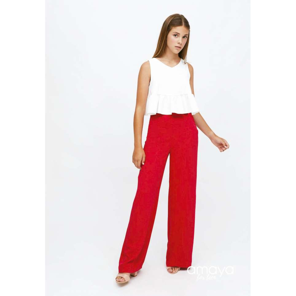Amaya for teen pantalon rojo para adolescentes