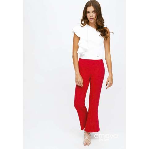 Amaya for teen pantalon rojo acampanado