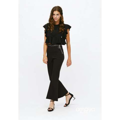 Amaya for teen pantalon negro acampanado