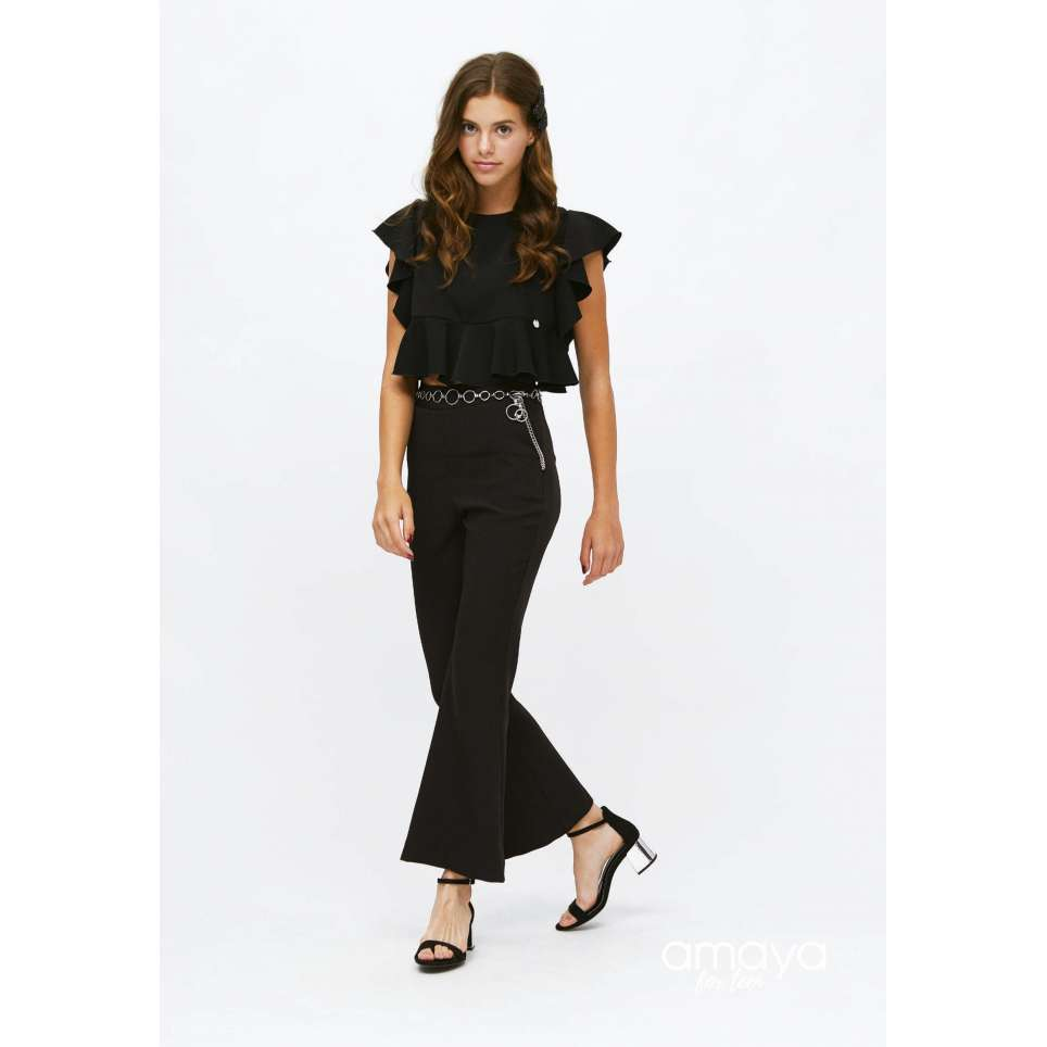 Amaya for teen pantalon negro 515201