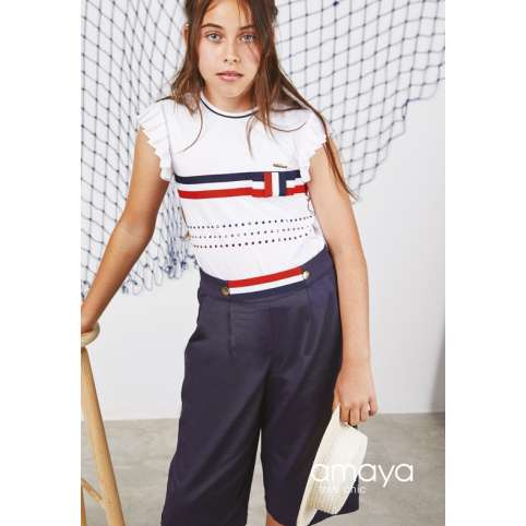 Amaya Fashion For kids pantalon junior marinero
